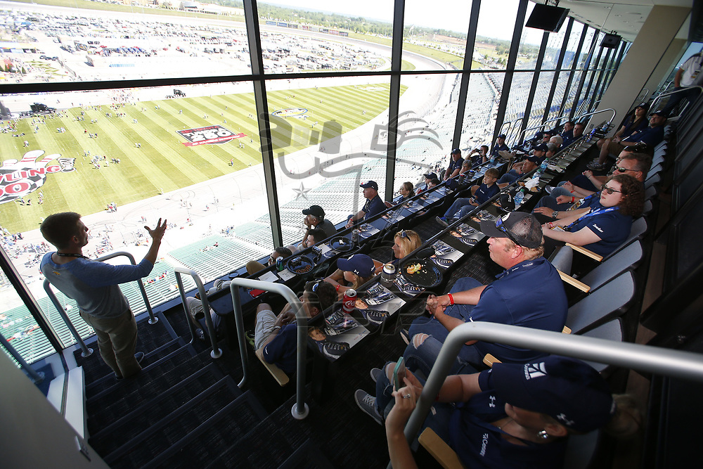 May 13, 2017 - Kansas City, Kansas, USA: The Monster Energy NASCAR Cup Series teams take to the track to practice for the Go Bowling 400 at Kansas Speedway in Kansas City, Kansas.