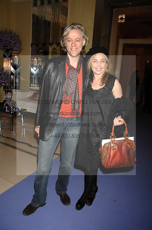 SIR BOB GELDOF and JEANNE MARINE at the 10th Anniversary Party of the Lavender Trust, Breast Cancer charity held at Claridge's, Brook Street, London on 1st May 2008.<br />
