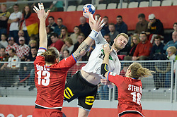 Philipp Weber of Germany during handball match between National teams of Germany and Czech Republic on Day 2 in Main Round of Men's EHF EURO 2018, on January 19, 2018 in Arena Varazdin, Varazdin, Croatia. Photo by Mario Horvat / Sportida