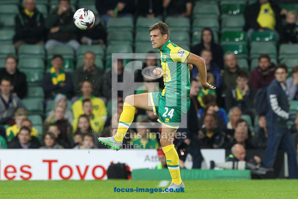 Ryan Bennett of Norwich in action during the Capital One Cup match at Carrow Road, Norwich<br /> Picture by Paul Chesterton/Focus Images Ltd +44 7904 640267<br /> 23/09/2015