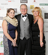 29/9/14***NO REPRO FEE***Pictured are Rachel Bennett, Richard Bennett and Carla O'Kelly at the 11th Q Ball in aid of Spinal Injuries Ireland at The Ballsbridge Hotel last night Pic: Marc O'Sullivan