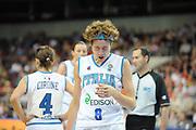 DESCRIZIONE : Riga Latvia Lettonia Eurobasket Women 2009 Semifinal 5th-8th Place Italia Lettonia Italy Latvia<br /> GIOCATORE : Simona Ballardini<br /> SQUADRA : Italia Italy<br /> EVENTO : Eurobasket Women 2009 Campionati Europei Donne 2009 <br /> GARA : Italia Lettonia Italy Latvia<br /> DATA : 19/06/2009 <br /> CATEGORIA : ritratto delusione<br /> SPORT : Pallacanestro <br /> AUTORE : Agenzia Ciamillo-Castoria/M.Marchi