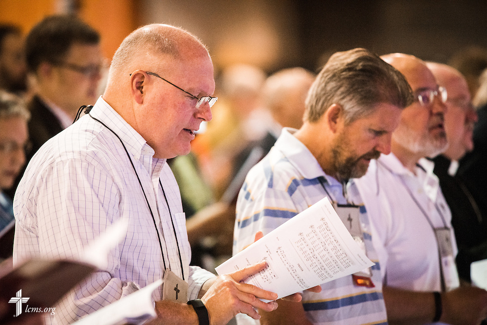 Delegates worship during Matins at the 66th Regular Convention of The Lutheran Church–Missouri Synod on Sunday, July 10, 2016, at the Wisconsin Center in Milwaukee. LCMS/Frank Kohn