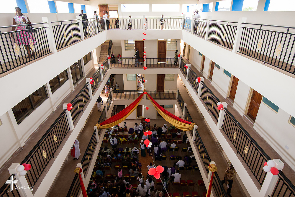 Interior photograph of the Lutheran Theological Seminary of the Evangelical Lutheran Church of Ghana on Sunday, Feb. 2, 2014, in Greater Accra, Ghana. LCMS Communications/Erik M. Lunsford