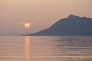 Sunsets on the Adriatic in Split-Dalmatia.
