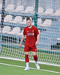 NAPLES, ITALY - Tuesday, September 17, 2019: Liverpool's Harvey Elliott looks dejected after missing a chance during the UEFA Youth League Group E match between SSC Napoli and Liverpool FC at Stadio Comunale di Frattamaggiore. (Pic by David Rawcliffe/Propaganda)