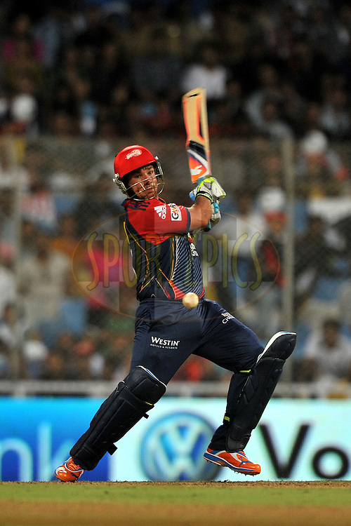 Aaron Finch of Delhi Daredevils  bats during  match 16 of the Indian Premier League ( IPL ) Season 4 between the Pune Warriors and the Delhi Daredevils held at the Dr DY Patil Sports Academy, Mumbai India on the 17th April 2011..Photo by Pal Pillai/ BCCI/SPORTZPICS