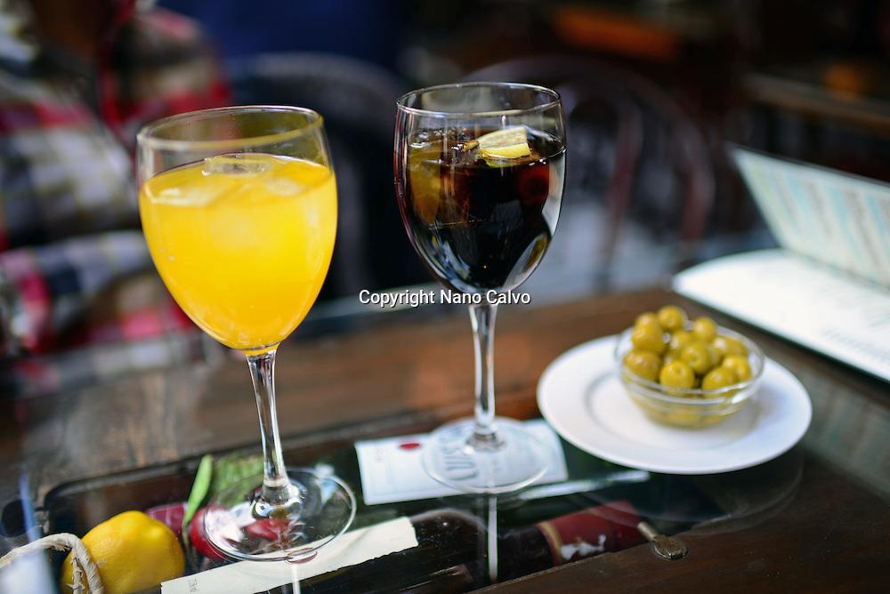 Aperitif at restaurant, Granada, Spain