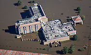 Flooded hotel in Kinston NC near the Neuse River.