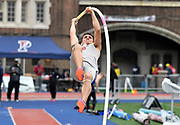 Apr 27, 2018; Philadelphia, PA, USA; Steven Jazdyk of Oklahoma wins the pole vault at 16-2 3/4 (4.95m) during the 124th Penn Relays at Franklin Field.