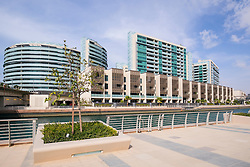 Modern residential property development at Al Muneera at Al Raha in Abu Dhabi United Arab Emirates