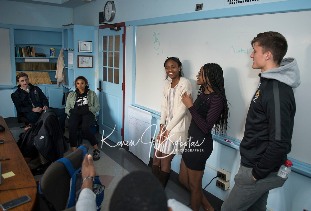 St Pauls School classroom photos.  ©2019 Karen Bobotas Photographer