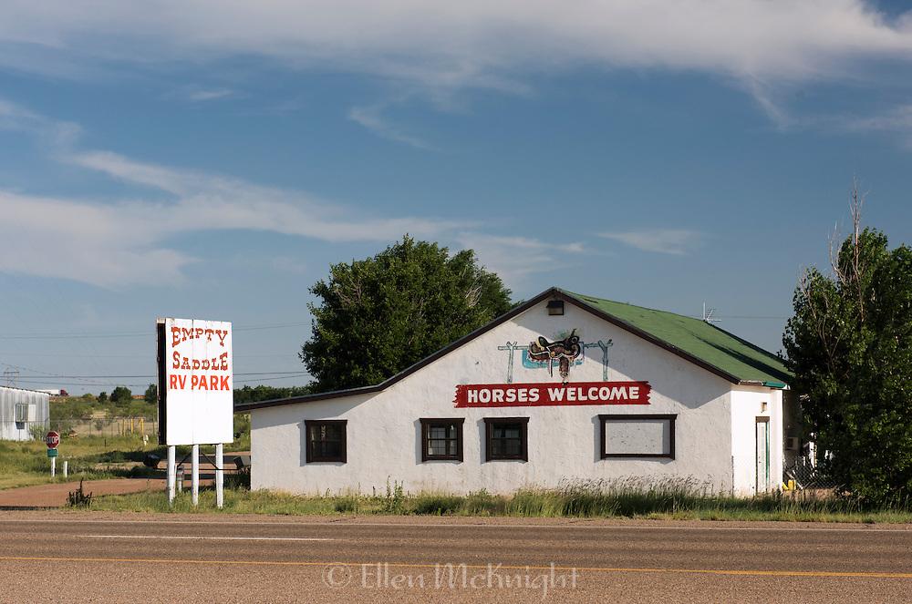 Empty Saddle RV Park on Route 66 in Tucumcari, New Mexico