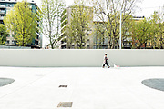 Milan, design week 2017,  outside Feltrinelli foundation.
