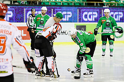 Nejc Vidmar at first face-off during ice hockey match between HDD Olimpija Ljubljana and HDD SIJ Acroni Jesenice in Final of Slovenian League 2016/17, on April 6, 2017 in Hala Tivoli, Ljubljana, Slovenia. Photo by Matic Klansek Velej/ Sportida