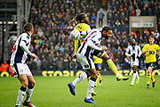 Blackburn Rovers midfielder Kasey Palmer (45)  and West Bromwich Albion defender Kieran Gibbs (3)  during the EFL Sky Bet Championship match between West Bromwich Albion and Blackburn Rovers at The Hawthorns, West Bromwich, England on 27 October 2018.