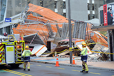 Wellington-Wind causes scaffolding to collapse on Willis Street