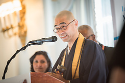 13 September 2017, New York, USA: On Gathering at the Yale Club in New York on 13 September for an interfaith prayer breakfast, faith leaders from a multitude of religions came together to support a coordinated faith-based effort in responding to HIV. The event was hosted by the World Council of Churches–Ecumenical Advocacy Alliance (WCC-EAA) in collaboration with UNAIDS, the United States President's Emergency Plan for AIDS Relief and the United Nations Interagency Task Force on Religion and Development on the side-lines of the 72nd session of the United Nations General Assembly. Here, Rev. Dr T. Kenjitsu Nakagaki, President of the Buddhist Council of New York.