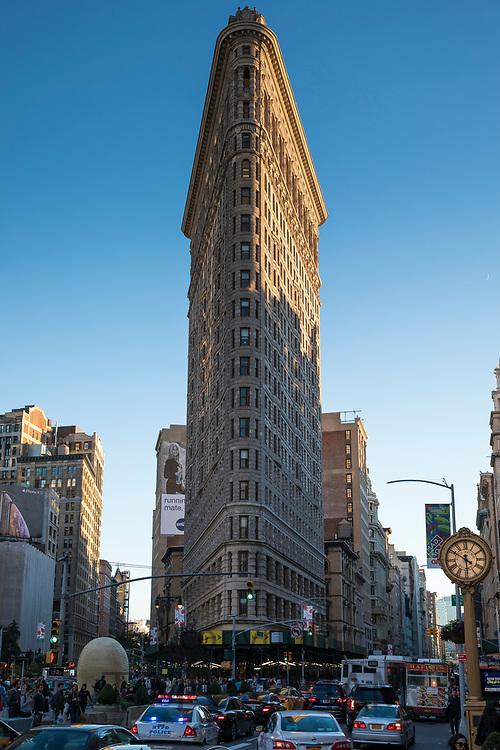 The Flatiron Building, Renaissance style, at 175 Fifth Avenue in Flatiron District of Manhattan, New York City. Formerly the Fuller Building