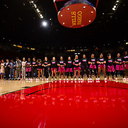 10 February 2018: The San Diego State Aztecs women's basketball team hosts Nevada on Play4Kay day at Viejas Arena.<br /> More game action at www.sdsuaztecphotos.com
