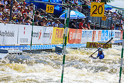 Srebotnik Martin (SLO) competes in Semi-Finals during Day 2 of 2018 ECA Canoe Slalom European Championships, on June 2nd, 2018 in Troja , Prague, Czech Republic. Photo by Grega Valancic / Sportida