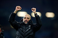 Football - 2019 / 2020 Premier League - Burnley vs. Manchester City<br /> <br /> Manchester City Manager Josep Guardiola celebrates at Turf Moor.<br /> <br /> COLORSPORT/LYNNE CAMERON