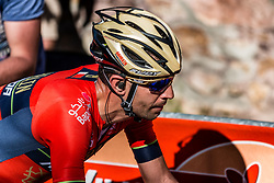 Vincenzo NIBALI of Bahrain Merida Pro Cycling Team during the last climb at Mur de Huy of the 2018 La Flèche Wallonne race, Huy, Belgium, 18 April 2018, Photo by Pim Nijland / PelotonPhotos.com | All photos usage must carry mandatory copyright credit (Peloton Photos | Pim Nijland)