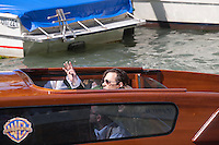 Actor Johnny Depp arrives by boat at the 72nd Venice Film Festival, Friday September 4th 2015, Venice Lido, Italy.