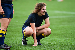 Megan Varley of Worcester Valkyries  during the pre match warm up - Mandatory by-line: Craig Thomas/JMP - 30/09/2017 - RUGBY - Sixways Stadium - Worcester, England - Worcester Valkyries v Saracens Women - Tyrrells Premier 15s