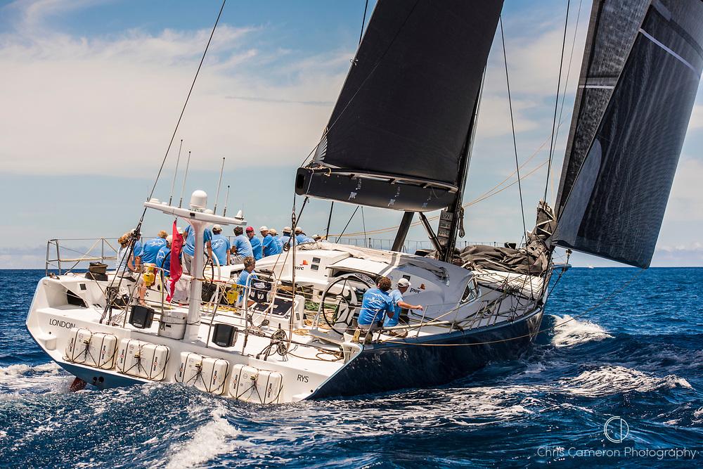 Bermuda, 13th June 2017. America's Cup Superyacht regatta. Race one. Leopard.
