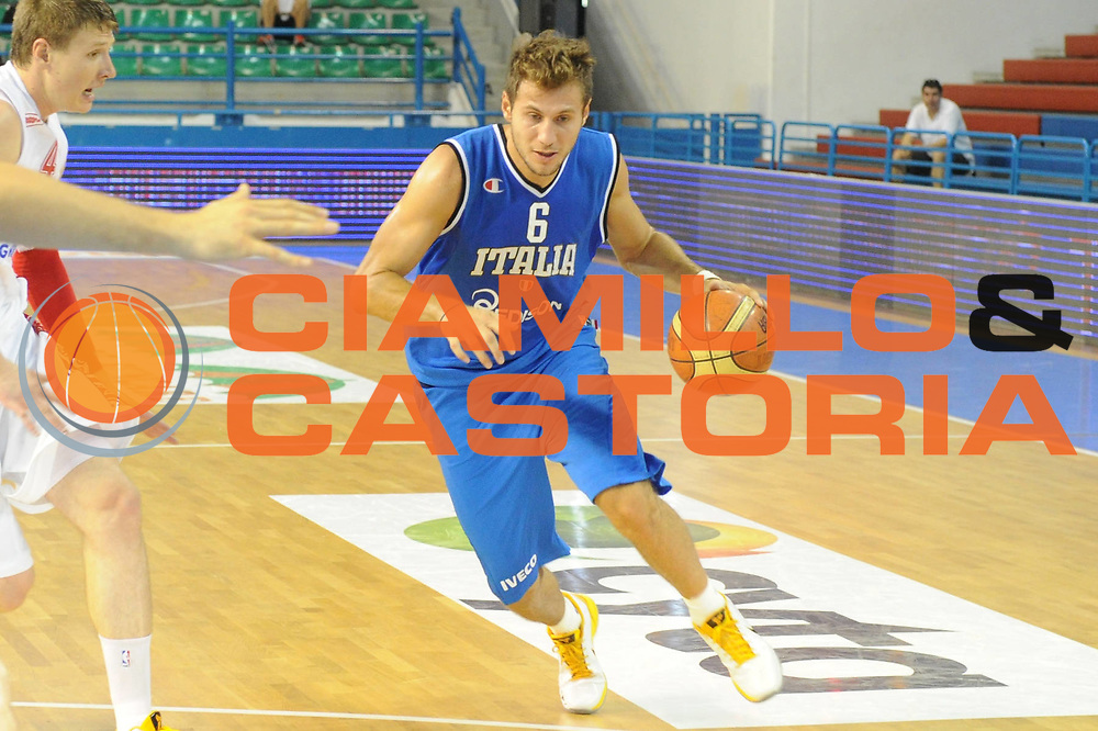 DESCRIZIONE : Cipro European Basketball Tour Italia Russia Italy Russia<br /> GIOCATORE : Stefano Mancinelli<br /> CATEGORIA : Palleggio<br /> SQUADRA : Nazionale Italia Uomini <br /> EVENTO : European Basketball Tour <br /> GARA : Italia Russia <br /> DATA : 06/08/2011 <br /> SPORT : Pallacanestro <br /> AUTORE : Agenzia Ciamillo-Castoria/GiulioCiamillo<br /> Galleria : Fip Nazionali 2011 <br /> Fotonotizia :  Cipro European Basketball Tour Italia Russia Italy Russia<br /> Predefinita :