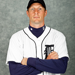 February 28, 2012; Lakeland, FL, USA; Detroit Tigers starting pitcher Max Scherzer (37) poses for photo day in the rec room at the Detroit Tigers Headquarters.  Mandatory Credit: Derick E. Hingle-US PRESSWIRE