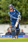 Scotland cricketer Calum MacLeod bats during the One Day International match between Scotland and Afghanistan at The Grange Cricket Club, Edinburgh, Scotland on 10 May 2019.