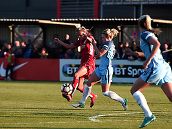 Claire Emslie of Bristol City Women competes for the ball with Izzy Christiansen of Manchester City Women - Mandatory by-line: Paul Knight/JMP - 09/05/2017 - FOOTBALL - Stoke Gifford Stadium - Bristol, England - Bristol City Women v Manchester City Women - FA Women's Super League Spring Series