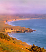 0603-5027  ~ Copyright:  George H.H. Huey ~ Becher's Bay and Santa Rosa Island.  Channel Islands National Park, California.