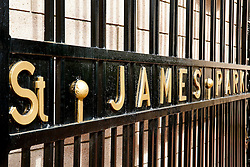 A detail on the Old St James' Park Gates - Photo mandatory by-line: Rogan Thomson/JMP - 07966 386802 17/08/2014 - SPORT - FOOTBALL - Newcastle, England - St James' Park - Newcastle United v Manchester City - Barclays Premier League.