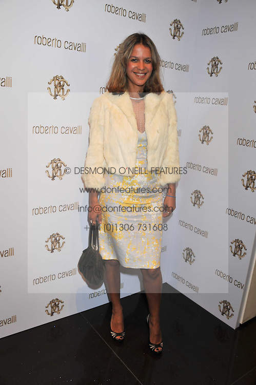 LISA MOORISH at a party hosted by Roberto Cavalli to celebrate his new Boutiques's opening at 22 Sloane Street, London followed by a party at Battersea Power Station, London SW8 on 17th September 2011.