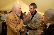 Richard Hamilton and Jermey Irons, Cartier Style Et Luxe, Goodwood, 27 June 2004. SUPPLIED FOR ONE-TIME USE ONLY-DO NOT ARCHIVE. © Copyright Photograph by Dafydd Jones 66 Stockwell Park Rd. London SW9 0DA Tel 020 7733 0108 www.dafjones.com