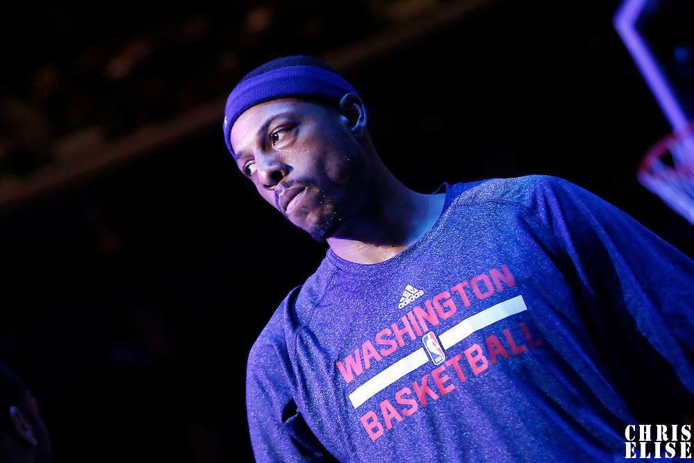 20 March 2015:  Washington Wizards forward Paul Pierce (34) is seen during the players introduction prior to the Los Angeles Clippers 113-99 victory over the Washington Wizards, at the Staples Center, Los Angeles, California, USA.