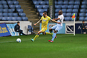 AFC Wimbledon defender & captain Barry Fuller (2) clears during the EFL Sky Bet League 1 match between Coventry City and AFC Wimbledon at the Ricoh Arena, Coventry, England on 28 September 2016. Photo by Stuart Butcher.