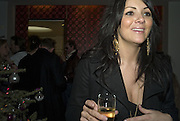 Martine Mccutcheon, Make-A-Wish Charity Evening at Selfridges, Selfridges,  400 Oxford St. London. 17 December 2007. -DO NOT ARCHIVE-© Copyright Photograph by Dafydd Jones. 248 Clapham Rd. London SW9 0PZ. Tel 0207 820 0771. www.dafjones.com.