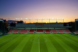 TRNAVA, SLOVAKIA - Thursday, October 10, 2019: A general view of the Štadión Antona Malatinského before the UEFA Euro 2020 Qualifying Group E match between Slovakia and Wales. (Pic by David Rawcliffe/Propaganda)