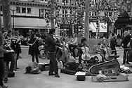 France. Paris 1st district. Palais royal square , classical music band / place du palais royal concert de musique classique