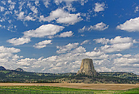 Devils Tower Sky & Landscape. Devils Tower National Park, Wyoming. Image taken with a Nikon D3x and 85 mm f/2.8 PC-E lens (ISO 100, 85 mm, f/16, 1/30 sec).