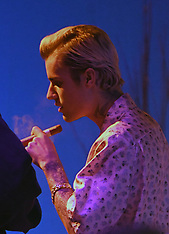 """Justin Bieber enjoys a Cuban cigar as he finishes up own his """"La Bomba"""" music video - 27 Feb 2020"""