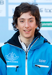 Matej Kosir at Official photo of  Slovenia Cross-country Skiing team for  European Youth Olympic Festival (EYOF) in Liberec (CZE) at official presentation, on February  9, 2011 at Bled Castle, Slovenia. (Photo By Vid Ponikvar / Sportida.com)