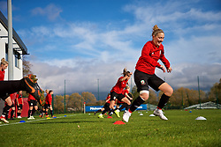 NEWPORT, WALES - Tuesday, November 6, 2018: Wales' Cori Williams during a training session at Dragon Park ahead of two games against Portugal. (Pic by Paul Greenwood/Propaganda)