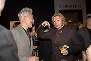 MARTIN KEMP, NICKY CLARKE, The George Michael Collection drinks.  Christie's, King St. London, 12 March 2019
