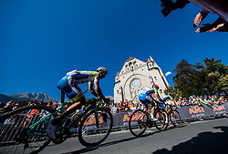 Primoz Roglic, Simon Spilak and Jan Polanc of Slovenia during the Men's Elite Road Race a 258.5km race from Kufstein to Innsbruck 582m at the 91st UCI Road World Championships 2018 / RR / RWC / on September 30, 2018 in Innsbruck, Austria. Photo by Vid Ponikvar / Sportida