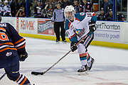 KELOWNA, CANADA - DECEMBER 27:  Kole Lind #16 of the Kelowna RocketsNick Chyzowski #16 of the Kamloops Blazers at the Kelowna Rockets game on December 27, 2016 at Prospera Place in Kelowna, British Columbia, Canada.  (Photo By Cindy Rogers/Nyasa Photography,  *** Local Caption ***
